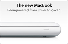 The new MacBook. Reengineered from cover to cover.