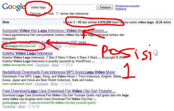 Bukti 2 - Situs VideoLaguIndonesia.Net