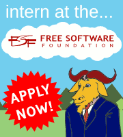 Intern at the Free Software Foundation