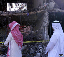 Aftermath of attack on Muhayyah residential compound (2003)