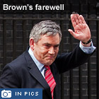 Brown's farewell in pictures