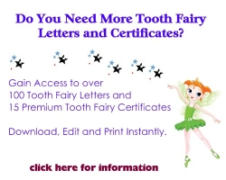 tooth fairy letters and certificates