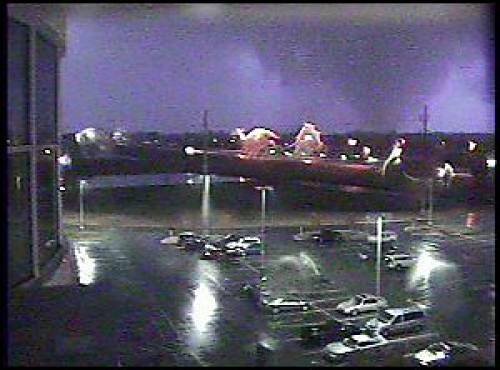 Photo of tornado, courtesy of Deaconess Women's Hospital in Evansville