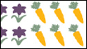 Graphic showing flowers and carrots