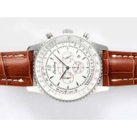 Breitling Montbrillant Working Chronograph with White Dial