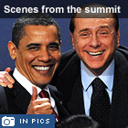 Scenes from the summit