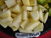 Honey Pearl Melon sliced