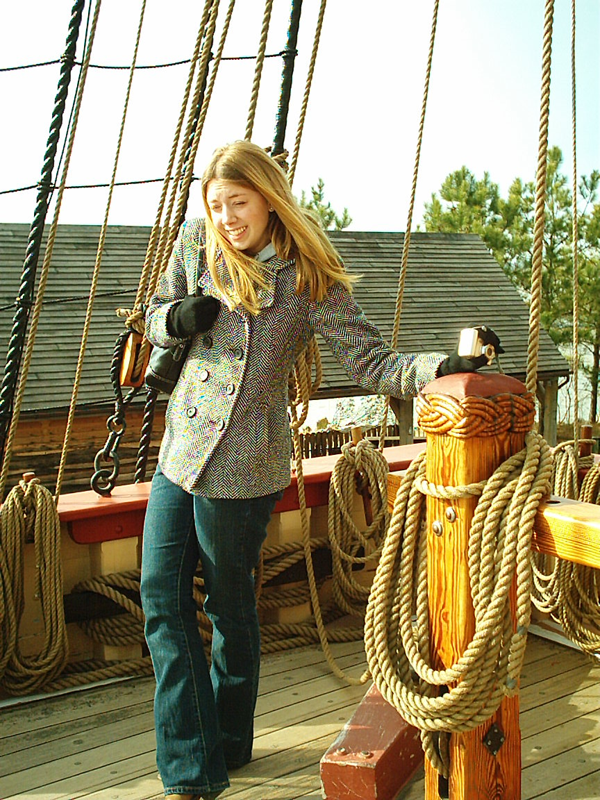 Land Ho! Laura Discovers Jamestown from the Susan Constant