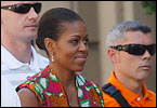 Michelle Obama and her 9-year-old daughter Sasha are visiting the Costa del Sol in Andalusia, Spain. The first lady will pay an official visit Sunday to King Juan Carlos and Queen Sofia at their summer home on the Mediterranean island of Mallorca.