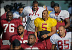 The Washington Redskins practice under Mike Shanahan, during day 2 of their summer training camp in Ashburn, Va.