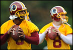 The Washington Redskins open their first training camp under Coach Mike Shanahan.