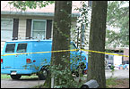Two women and two children were found dead in filthy and deplorable living conditions above the garage of a Lanham home early Friday morning.