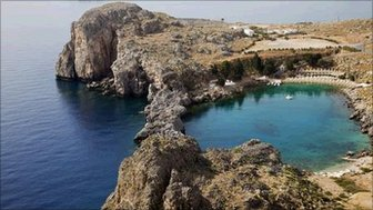 St Paul's Bay in Lindos on Rhodes
