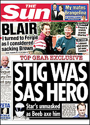 Exclusive ... Sun's front page