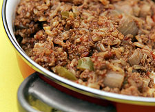 texas hash Receta de sofrito de carne con arroz