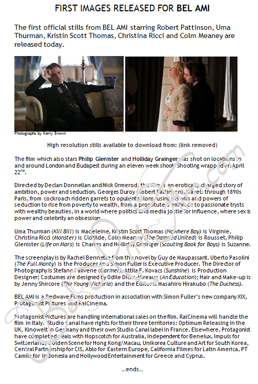 PressRelease New Bel Ami Press Release