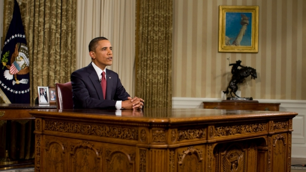 The President speaks to the Nation from the Oval Office