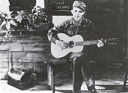 Jimmie Rodgers in a movie still