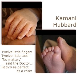 Kamani Hubbard's little hands and feet photo