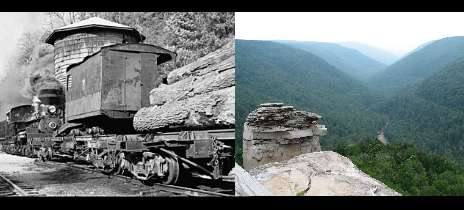 Shay logging train in West Virginia Cass Almost heaven West Virginia