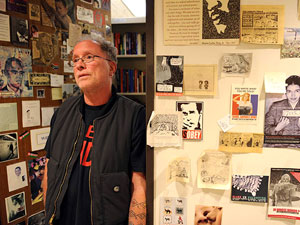 Bill Ayers and his door at UIC