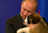 Bulgarian PM gives Putin puppy after sealing gas deal