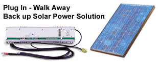Plug In - Walk Away solar power back up system