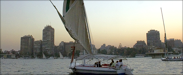 Cruising the River Nile in a felucca. Photo credit - khowaga.