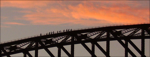 Climbing the Sydney Harbour Bridge. Photo credit - recoverling.