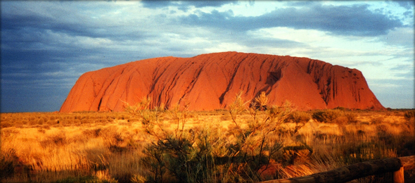 Ayers Rock, during sunrise. Photo credit - ernieski.