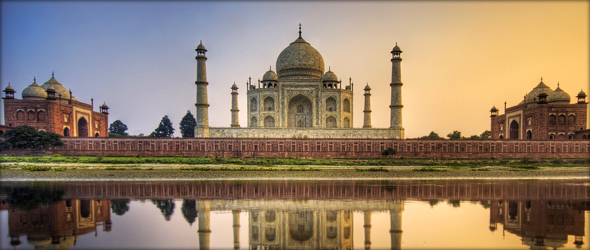 The Taj Mahal in Agra. Photo credit - Stuck in Customs.
