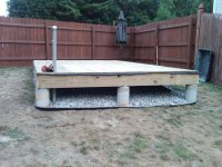 cover the floor joist with plastic and plywood