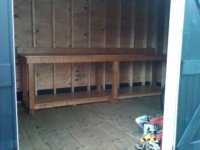 workbench Rob put in shed