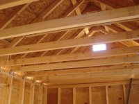 h clips are used between the sheets of plywood/particle board to keep them from flexing