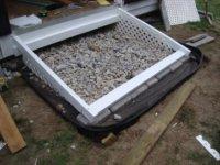 basic framwork with filler rocks in place