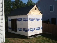 completed shed roof
