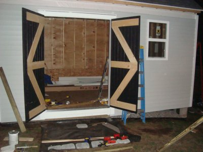 finished door from the inside