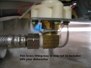 Dishwasher Brass Fitting