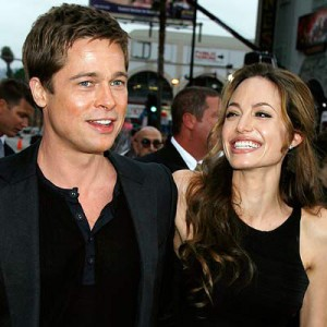 brad pitt and angelina jolie 300x300 Top 10 celebrity couples