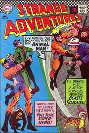 Animal Man's original costume. Art by Jack Sparling.