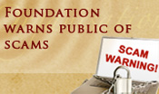 Foundation warns of scams