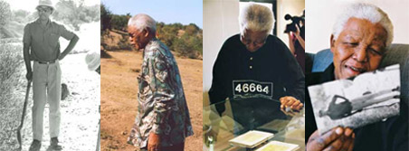 Various pictures of Nelson Mandela