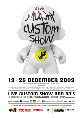 Munny Exhibition @Lou Belle Living Space, 19 – 26 Dec 09