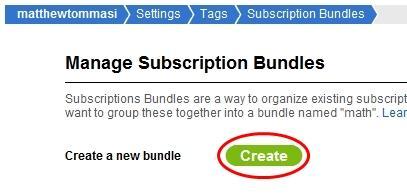 create new bundle