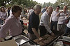 Rudd hosts BBQ for flood victims