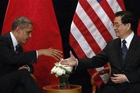 US president Barack Obama and China's president Hu Jintao (Source: Reuters)