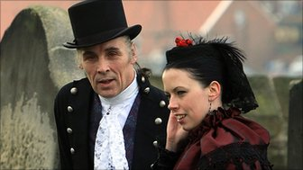 A couple at the Whitby Gothic Weekend (file photo)