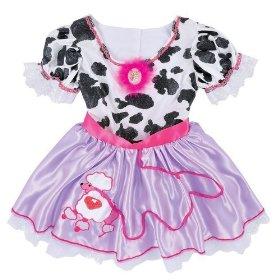 Fancy Nancy Kids Cow Dress Costume