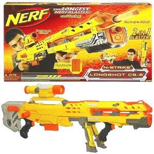 Nerf N-Strike Longshot CS-6 Blaster Yellow