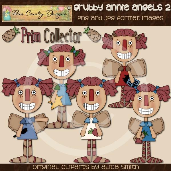 Grubby Annie Angels 2 Clip Art-